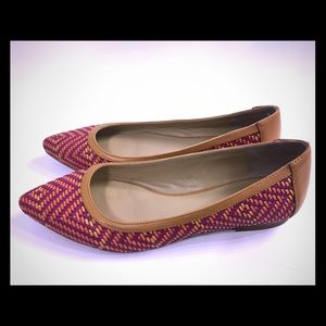 """Sole society """"Felicia"""" flats/skimmers red woven 7"""